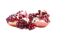 Ripe pomegranate fruit isolated on white background Royalty Free Stock Photography