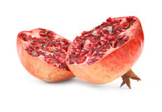 Ripe pomegranate fruit on white Royalty Free Stock Photo
