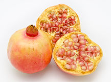 Ripe pomegranate fruits Royalty Free Stock Images