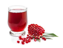 Ripe pomegranate and glass of juice Royalty Free Stock Image