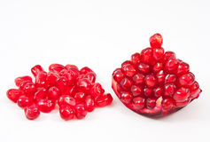 Ripe pomegranate isolated Stock Photography