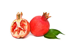 Ripe pomegranate and its section Stock Image