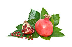 Ripe pomegranate and its section Royalty Free Stock Image