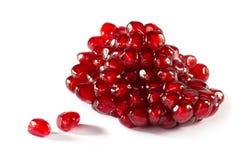 Ripe pomegranate piece Stock Photos