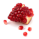 Ripe pomegranate piece Stock Images