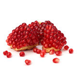 Ripe pomegranate piece Stock Photos