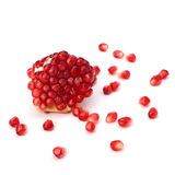 Ripe pomegranate piece Royalty Free Stock Images