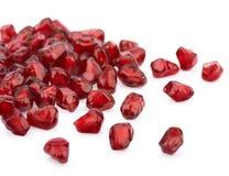 Ripe pomegranate seeds stock photos