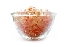 Ripe pomegranate seeds on a glass bowl Stock Image