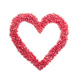Ripe Pomegranate Seeds In Form Of Heart Stock Photography