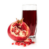 Ripe Pomegranate With A Glass Of Juice Stock Photo