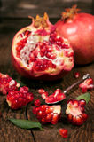 Ripe pomegranates close-up Royalty Free Stock Image