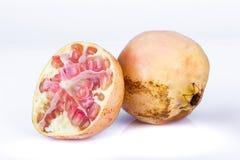 Ripe pomegranates isolated on a white background Royalty Free Stock Images