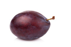 Ripe prune or plum isolated on a white background.  Stock Photography
