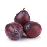 Ripe prune or plum isolated on a white background Stock Photo