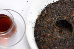 Ripe puer tea cake Stock Photo