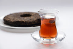 Ripe puer tea cake Royalty Free Stock Photo