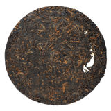 Ripe puerh cake isolated Stock Image