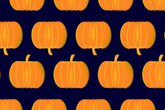 Ripe pumpkin on a blue background Royalty Free Stock Image