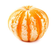 Ripe Pumpkin Isolated on white. Royalty Free Stock Photo
