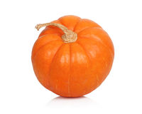 Ripe pumpkin with stem royalty free stock image