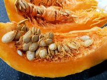 Ripe pumpkins cut Royalty Free Stock Images