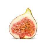 Ripe purple fig fruit half, Royalty Free Stock Photo