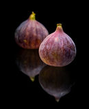 Ripe purple fig fruits Stock Photo