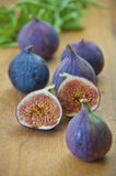 Ripe purple figs  in the kitchen Stock Photo