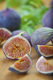 Ripe purple figs  in the kitchen Royalty Free Stock Photography