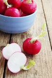 Ripe radishes in a bowl Stock Images