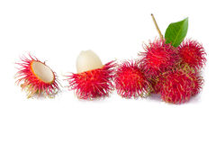 Ripe rambutan/red rambutan/asian fruit. Ripe rambutan isolate on white background Stock Image