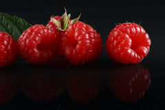 Ripe raspberries Stock Images