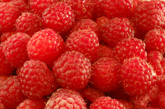 Ripe raspberries. Close up of a panier of ripe raspberries, ready to eat Stock Photography