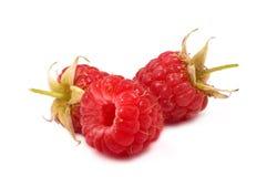 Ripe raspberries. On white background Stock Images