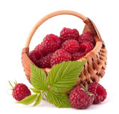 Ripe raspberries in basket Royalty Free Stock Photography