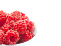 Ripe raspberries. Isolated on white background stock image