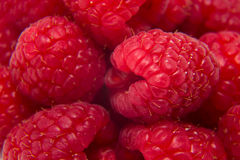 Ripe raspberries isolated. On white background close up Stock Photo