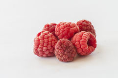 Ripe raspberries isolated on white background Royalty Free Stock Image