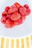 Ripe Raspberries on Plate Royalty Free Stock Photo