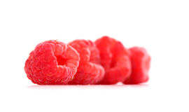 Ripe raspberry as is on white background close up. Image of a ripe raspberry as is on white background close up Royalty Free Stock Photography