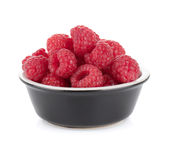 Ripe raspberry small bowl Stock Photography