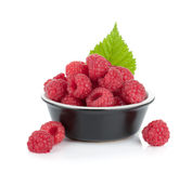 Ripe raspberry small bowl Royalty Free Stock Photography
