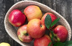 Free Ripe Red And Yellow Apples On Table Close Up Stock Photography - 172876742