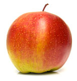 Ripe red apple. The ripe red apple on white. Isolation, shallow DOF Stock Photos