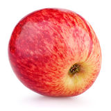 Ripe red apple fruit isolated on white. Single ripe red apple fruit isolated on white background Royalty Free Stock Photos