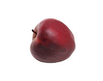 Ripe red apple, isolated. On a white background Royalty Free Stock Images