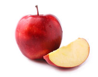 Ripe red apple isolated. Stock Photo