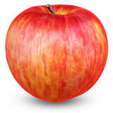 Ripe red apple isolated on white. With clipping path Stock Images