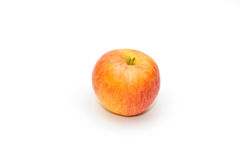 Ripe red apple. On white background Royalty Free Stock Photography